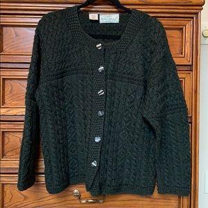 Forest Green Quills Woolen Market Sweater
